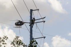 17. Oktober Hurrikan Matthew Repairs Lizenzfreies Stockbild