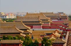 In am 29. Oktober 2017 Jingshan-Hügel Chunting Million stockfoto