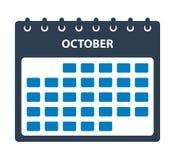Oktober kalendersymbol vektor illustrationer