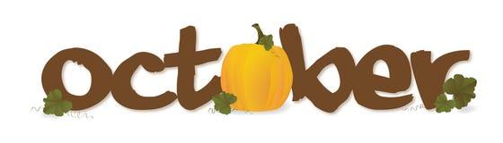 Oktober-Kopftext Lizenzfreie Stockfotos