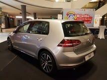 1. Oktober 2016 Kuala Lumpur Volkswagen-Autoanzeige am Einkaufskomplex des Gipfel-USJ, Malaysia Stockbild