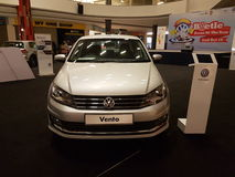 1 Oktober 2016, Kuala Lumpur Volkswagen-autovertoning bij Top USJ Complex Winkelen, Maleisië Stock Foto's