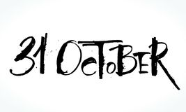 31 Oktober lettering for Halloween. Royalty Free Stock Photography