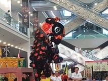 29. Oktober 2016 2. malaysischer nationaler traditioneller Lion Dance Championship 2016 bei einer Stadt Subang USJ, Malaysia Stockbilder