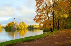 Oktober morgon på Catherine Park Royaltyfri Bild