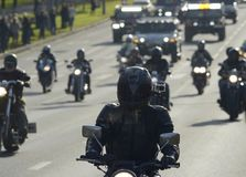 6 Oktober 2013 Moskvacyklister Arkivfoton