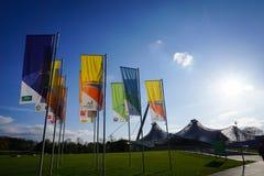 31 oktober 2017 Munchen Het centrum van Olympia Olympisch Stadion Munic Royalty-vrije Stock Afbeeldingen