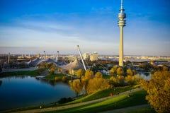 31 oktober 2017 Munchen Het centrum van Olympia Olympisch Stadion Munic Royalty-vrije Stock Foto