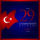29. Oktober nationaler Tag der Republik von der Türkei Lizenzfreie Stockfotos