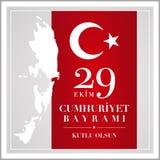 29 oktober nationell republikdag av Turkiet Arkivfoton