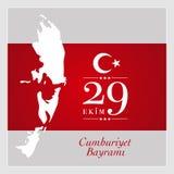 29 oktober nationell republikdag av Turkiet Arkivbild