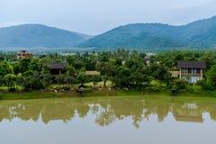 2 Oktober 2016, natur av Khaoyai, på ATTA Resort i Thailand Arkivbilder
