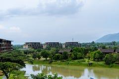 2 Oktober 2016, natur av Khaoyai, på ATTA Resort i Thailand Royaltyfri Foto