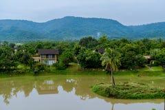 2 Oktober 2016, natur av Khaoyai, på ATTA Resort i Thailand Royaltyfri Fotografi