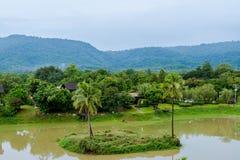 2 Oktober 2016, natur av Khaoyai, på ATTA Resort i Thailand Arkivbild