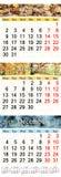Oktober November en December 2017 met gekleurde beelden in vorm van kalender Stock Afbeeldingen