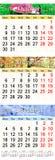 Oktober November en December 2017 met gekleurde beelden in vorm van kalender Royalty-vrije Stock Afbeeldingen