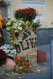 Oktober på gatorna av Kyiv royaltyfria bilder