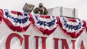 OKTOBER 13, 2016: Presidentens säkerhetstjänst skyddar vicepresidentJoe Biden aktioner för Nevada Democratic U S Senatkandidat Ca Fotografering för Bildbyråer