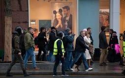 2017 - 7 OKTOBER, Rusland Moskou: mensen op de straten van Moskou Royalty-vrije Stock Afbeeldingen
