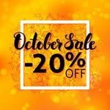 Oktober Sale reklamblad Royaltyfria Bilder