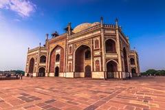 29. Oktober 2014: Seitenansicht des Humayun-` s Grabs in Neu-Delhi, Stockbild