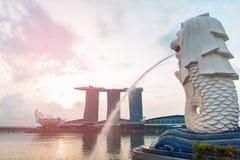 24. Oktober 2016: Singapur-Markstein Stockbild