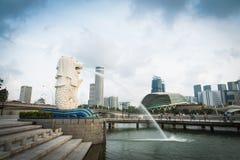 24. Oktober 2016: Singapur-Markstein Lizenzfreie Stockfotos