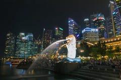 24. Oktober 2016: Singapur-Markstein Stockfoto