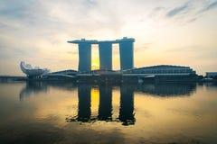 24. Oktober 2016: Singapur-Markstein Lizenzfreies Stockbild