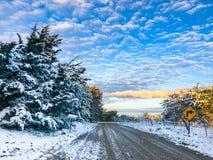 Oktober-sneeuwval in Kansas stock afbeelding