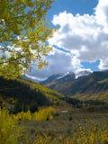 oktober snow Royaltyfria Bilder