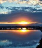 Oktober-Sonnenuntergang Lizenzfreie Stockfotos