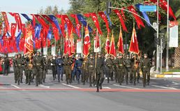 29. Oktober Tag der Republik-Feier im Jahre 2017 Stockbilder