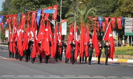 29. Oktober Tag der Republik-Feier im Jahre 2017 Stockbild