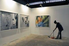 2 oktober, Tel Aviv - Fototentoonstelling in Tel. aviv-Jaffa, een unk Stock Foto's