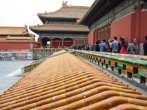 13 oktober, 2013: Verboden Stad in Peking, China Royalty-vrije Stock Fotografie
