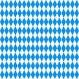oktoberfest的背景 蓝色和白色菱形 图库摄影