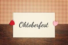 oktoberfest的问候卡片- 库存图片
