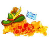 oktoberfest背景的庆祝 库存图片