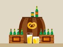 Oktoberfest świętowania tła wektorowy plakat Fotografia Stock