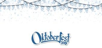 Oktoberfest 2018 γιρλάντες με το κομφετί Στοκ Φωτογραφίες
