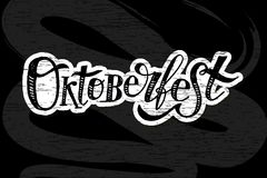 Oktoberfest γράφοντας καλλιγραφίας βουρτσών κειμένων πίνακας κιμωλίας αυτοκόλλητων ετικεττών διακοπών διανυσματικός Στοκ φωτογραφία με δικαίωμα ελεύθερης χρήσης