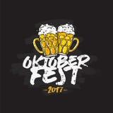 Oktoberfest 2017 Εγγραφή και καλλιγραφία Στοκ εικόνες με δικαίωμα ελεύθερης χρήσης