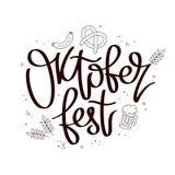 Oktoberfest η καλλιγραφία τάσης Στοκ Φωτογραφίες