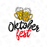 Oktoberfest η καλλιγραφία τάσης Στοκ εικόνα με δικαίωμα ελεύθερης χρήσης