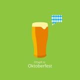oktoberfest плакат Пиво с пузырем речи и Стоковые Изображения RF