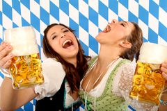 Oktoberfest. Women on the oktoberfest in munich stock image