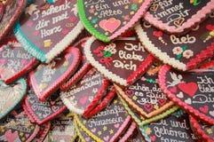 Oktoberfest 2012 - Gingerbread hearts Royalty Free Stock Photo