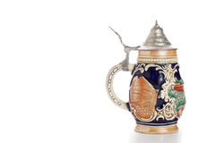 Oktoberfest. Traditional ceramic beer stein from Germany Royalty Free Stock Photos